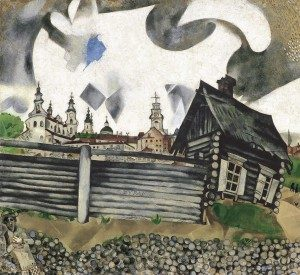 Chagall_-The-House-in-Grey-1917-300x275