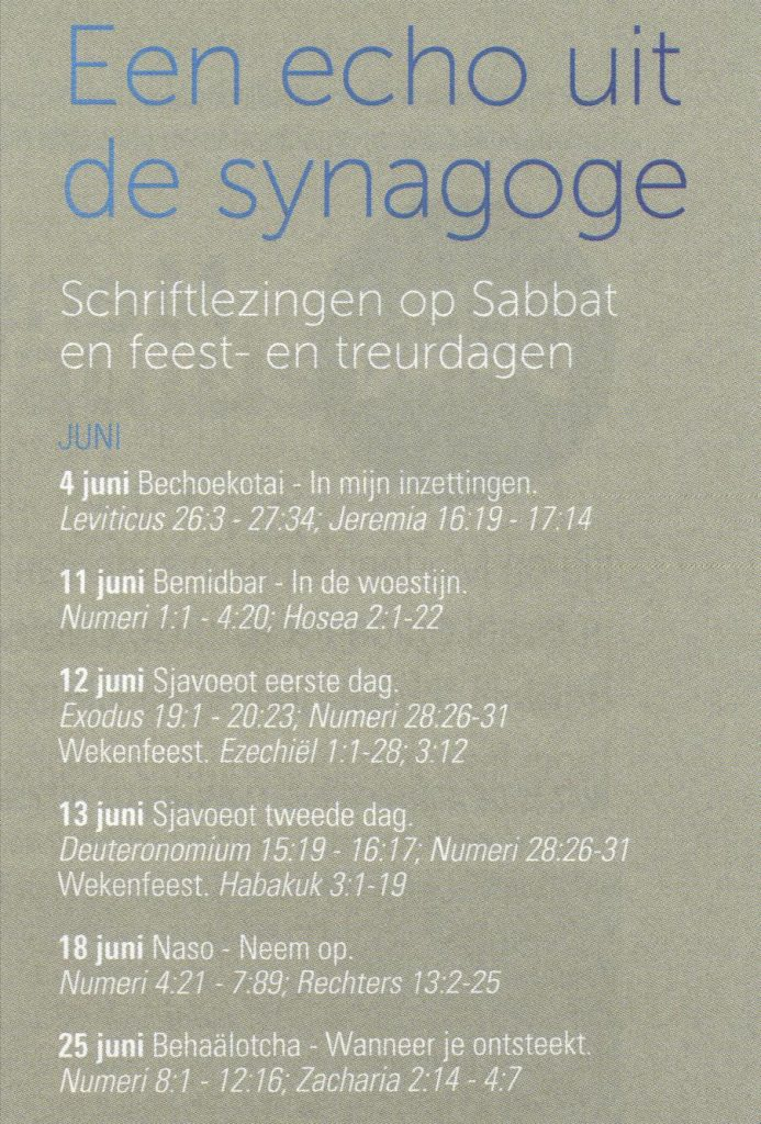 leesrooster synagoge 001