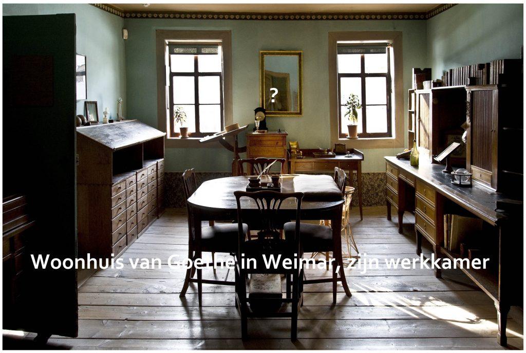 Woonhuis van Goethe in Weimar, zijn werkkamer.