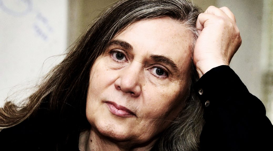 "**FILE** Author Marilynne Robinson speaks during an interview,  Nov. 9, 2004, in Iowa City, Iowa. Her ""Gilead,"" a poetic, modern-day tale of a dying Iowa preacher, won the Pulitzer Prize for fiction Monday, April 4, 2005. (AP Photo/Charlie Neibergall)"