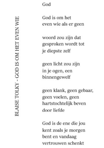 gedicht God